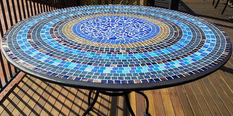 make a mosaic table top with these step by step instructions