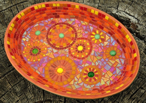 recycled mosaic bowl project