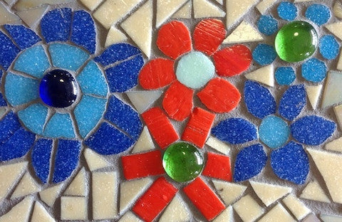 Learn how to make mosaic flowers