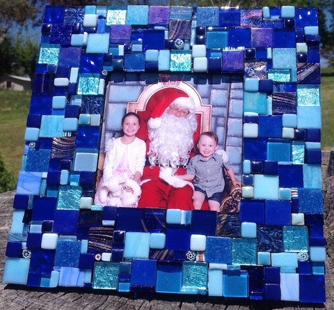 Mosaic photo frame project