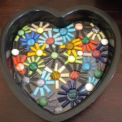 how to make a mosaic stepping stone using the indirect method