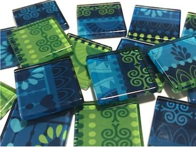 Tribal Glass Tiles 2.5cm