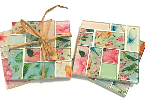Vintage Garden Mosaic Coasters - How to Make & Mosaic Kits Available