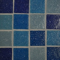 White mosaic grout colour