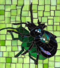 Using shadows in mosaics, Bug by Barb Keith