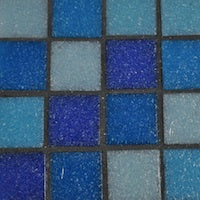 dark grey mosaic grout colour