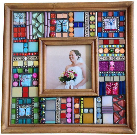 Mixed Media Mosaic Photo Frame Have Fun Creating This