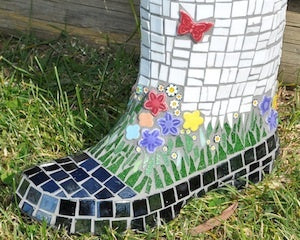 mosaic gum boot project