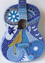 learn how to make a mosaic guitar