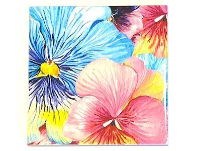 Watercolour Flowers Ceramic Tiles 10x10cm No. 2 (HM)
