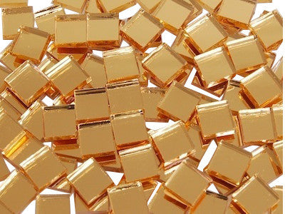 Gold Mirror Tiles 1 cm Square