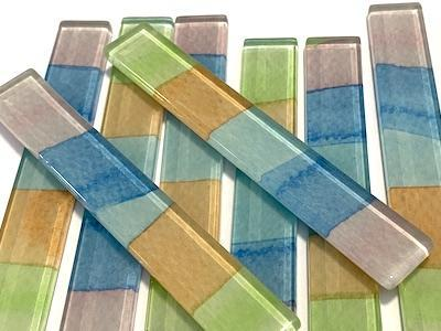 Abstract Watercolour Strips 10x1.5cm No. 9 (HM)
