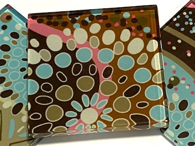 Aboriginal Inspired 5cm Glass Tiles - Pattern 10 (HM)