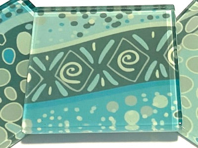 Aboriginal Inspired 5cm Glass Tiles - Pattern 11 (HM)
