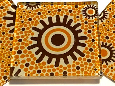 Aboriginal Inspired 5cm Glass Tiles - Pattern 5 (HM)