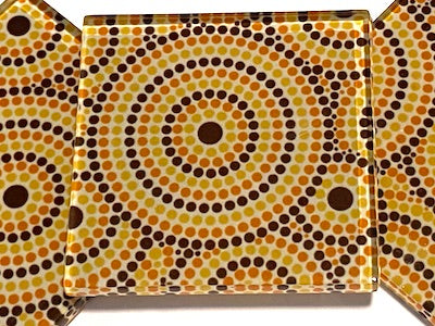 Aboriginal Inspired 5cm Glass Tiles - Pattern 6 (HM)