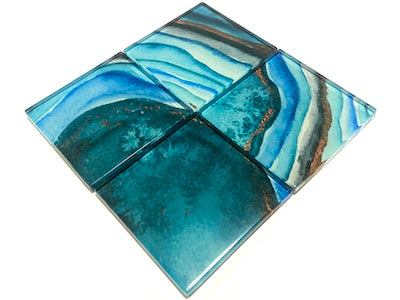 Agate Glass Mosaic Tiles 5cm - No. 9 (HM)