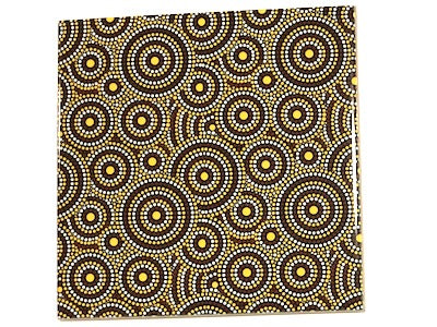 Aboriginal Inspired Ceramic 10x10cm - Pattern 2
