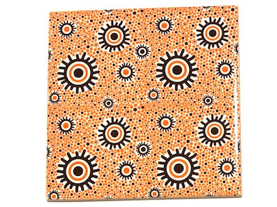 Aboriginal Inspired Ceramic 10x10cm - Pattern 5