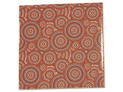 Aboriginal Inspired Ceramic 10x10cm - Pattern 7