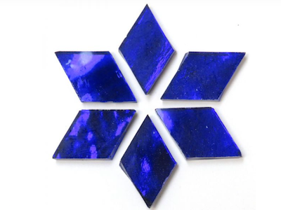 Admiral Blue Mirror Diamonds