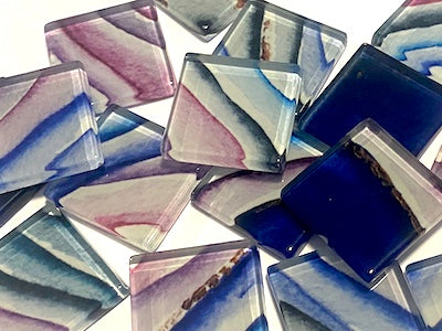 Agate Textures Glass Mosaic Tiles 2.5cm - No. 11 (HM)