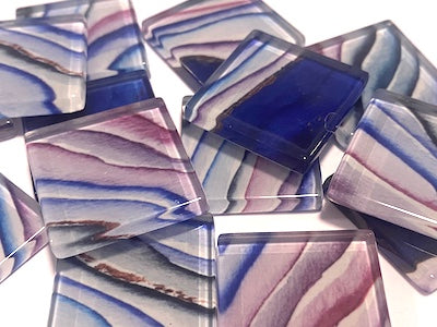Agate Textures Glass Mosaic Tiles 2.5cm - No. 12 (HM)