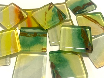 Agate Textures Glass Mosaic Tiles 2.5cm - No. 15 (HM)