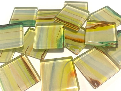 Agate Textures Glass Mosaic Tiles 2.5cm - No. 16 (HM)