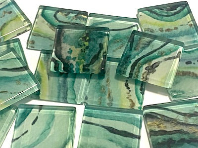 Agate Textures Glass Mosaic Tiles 2.5cm - No. 3 (HM)