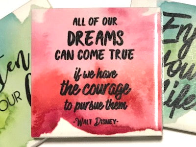 'All Of Our Dreams' Ceramic Quote Tile (HM)