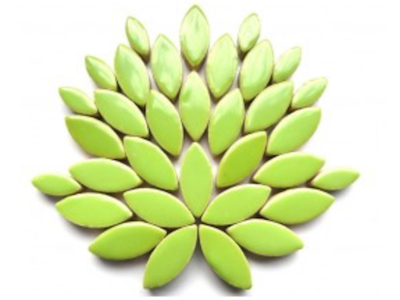 Apple Green Ceramic Petals