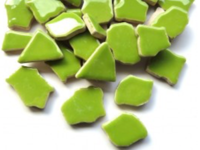 Apple Green Ceramic Puzzle Pieces