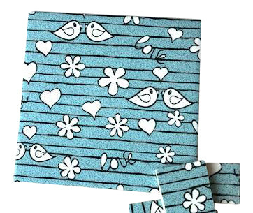 Aqua Birds Ceramic Tiles 10x10cm