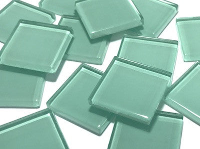 Aqua Green No. 1 Glass Mosaic Tiles 2.5cm