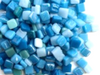 Mixed Aqua 8mm Glass Tiles