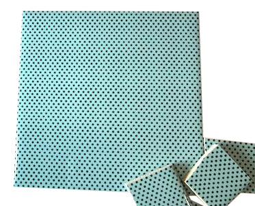 Aqua Polka Dots Ceramic Tiles 10x10cm