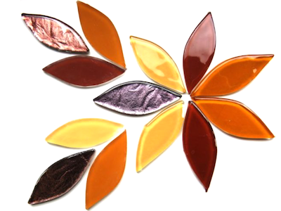 Autumn Mix Glass Petals