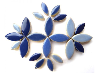 Blue Mixed Ceramic Petals
