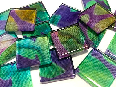 Batik Inspired Glass Mosaic Tiles 2.5cm - No. 21 (HM)