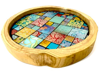 Batik Mosaic Serving Tray Kit (HM)