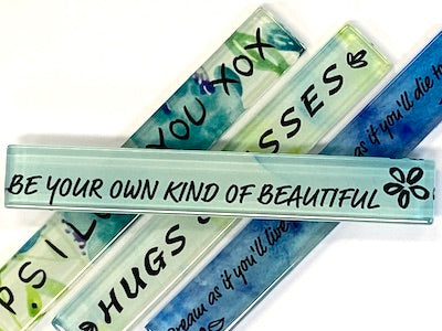 Be Your Own Kind Of Beautiful (Blue) - Quote Strip (HM)