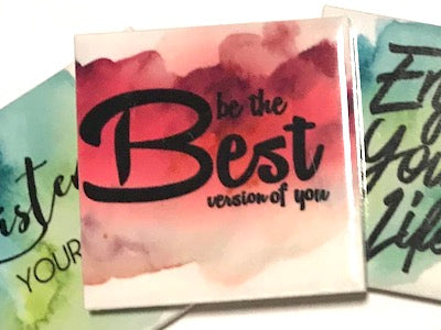 'Be The Best' Ceramic Quote Tile (HM)