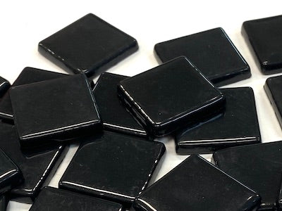 Black Gloss Glass Tiles 2.3cm