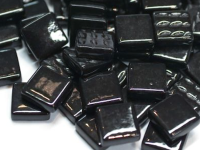Black Gloss Glass tiles 1.2cm