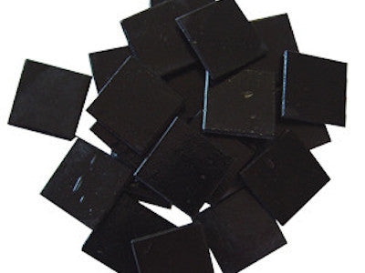 Black 2cm Venetian Glass Mosaic Tiles
