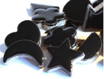 Black Ceramic Charms