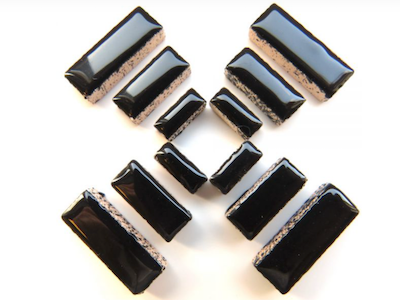 Black Ceramic Rectangles