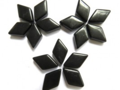 Black Mini Glass Diamonds (MGD1)