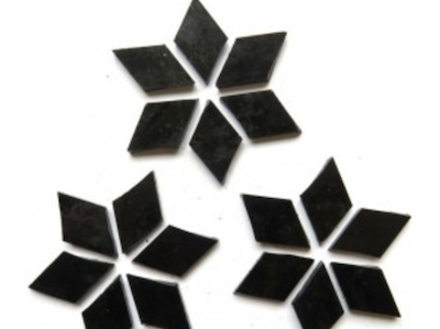 Black Stained Glass Diamonds